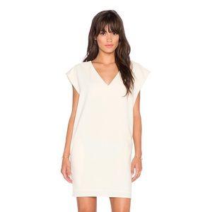 NWOT Blaque Label V-Neck Pocket Dress in Cream
